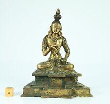 Antique Nepalese Tibetan Gilt Bronze of a Bodhisattva - Late 19th Century