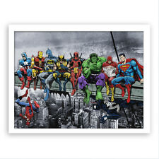 Home Super Hero Ink Painting Office Wall Decoration Canvas Art Mural Printing AU