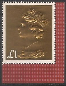 GB 2017 sg U3966 £1 Gold Embossed Machin Booklet Only Stamp MNH