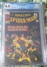 AMAZING SPIDER-MAN #27 CGC 4.0 STAN LEE STORY STEVE DITKO ART GREEN GOBLIN 1965
