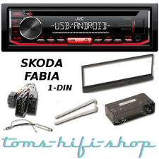 JVC CD USB MP3 Autoradio SKODA FABIA 1 Bj 99-07 1-DIN Radio + Adapter Blende Set
