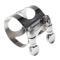 1 Pcs Tenor Saxophone Mouthpiece Ligature Nickel Metal Sax Accessorie