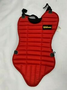 WILSON YOUTH BASEBALL CATCHERS A3225 CHEST PROTECTOR RED