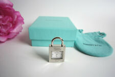 Tiffany & Co 1837 padlock watch pendant charm. Mint. Boxed. Superb!