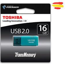 PENDRIVE 16GB TOSHIBA AQUA MEMORIA USB 2.0 16 GB ORIGINAL PEN DRIVE