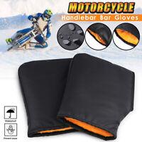 Motorcycle Handle Bar Muffs Snowmobile Gloves Mitts Winter Hand Warm Waterproof