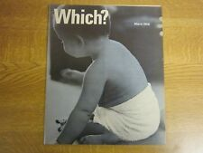 March 1968, WHICH MAGAZINE, Nappies, Hedgecutters, Whitewood Furniture.