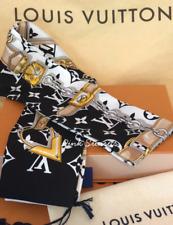 Louis Vuitton Monogram Confidential bandeau Silk Scarf Black White ❤️