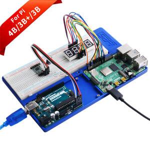 Raspberry Pi 4 Holder Kit ABS Experiment Holder for RPi,Arduino Uno/mega 2560