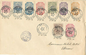ALBANIA 1916 Cover circulated from Mollas to Elbasan - VERY RARE