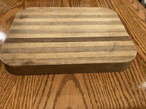 Medium End Grain Cutting Board Chopping Block White Oak Butcher Block 12-18 X 11-58 X 1-78