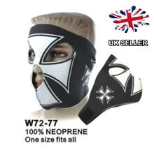 NEOPRENE BIKER MOTORCYCLE FACE MASK KNIGHTS CROSS BALACLAVA BIKE UK SELLER