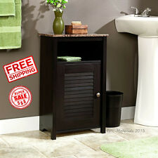 Bathroom Cabinet Storage Towel Floor Shelf Granite Organizer Furniture Decor New