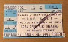 1990 THE CULT BONHAM SAN DIEGO CONCERT TICKET SONIC TEMPLE TOUR FIRE WOMAN IAN