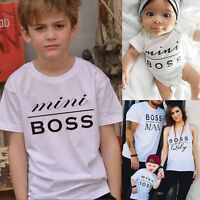 Couple T-Shirt MEN WOMEN KID BABY Letter Matching Shirts Family Clothes Tee Tops
