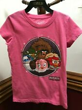 Old Navy Angry Birds Star Wars SS Pink Tee T Shirt Top Size S Small 6 7