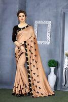Saree Indian Sari Designer Blouse Wear Silk Pakistani Party Wedding New Sc