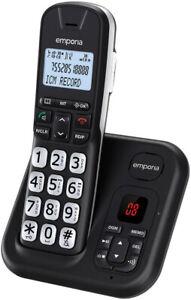 Senioren Analog Telefon Schnurlos Voll Digital Anrufbeantworter Groß Big Tasten: