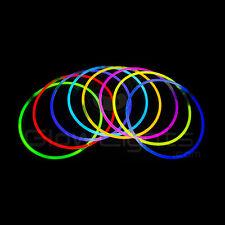 """(50) 22"""" GLOW LIGHT STICKS NECKLACES - 10 COLORS - GLO LITE PARTY - PREMIUM"""