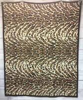 "Biederlack Blanket Tiger Print Size 44.5"" X 55.5"" Throw"
