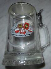 bierseidel glas geschliffen deckel bier krug ALWE narrenzunft horb fasnacht deko