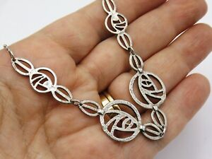 Sterling silver necklace Mackintosh Glasgow Rose design by Carrick
