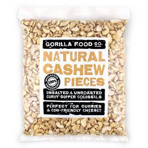 Gorilla Food Co. Cashew Nut Pieces Raw - 200g-6.4kg (Great value £ per 1kg)