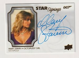 MARY STAVIN OCTOPUSSY GIRL JAMES BOND 007 UD UPPER DECK STAR SIGNINGS AUTOGRAPH