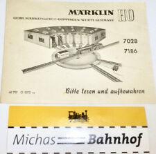 7028 7186 Manual de Instrucciones Märklin 68 702 O 0372 Ru H0 Å