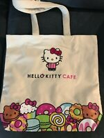 NWT Hello Kitty Cafe Exclusive Canvas Patch Tote Bag Rare 2019