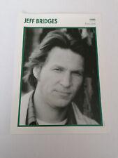 Jeff Bridges - Fiche cinéma - Portraits de stars 13 cm x 18 cm