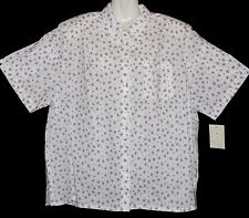 "BNWT - ""Imagemakers"" - Plus Size 20 - White Business Shirt with collar - Circles"