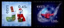 Weihnachten.Kind,Weihnachtsmann,Erdkugel mit Glockenband. 2W. Estland 2013