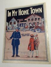 In My Home Town Sheet Music Police Officer & Flapper Girls Night Stick