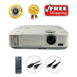NEC NP-M300W 3LCD Projector Refurbished 3000 Lumens HD 1080p HDMI w/Accessories