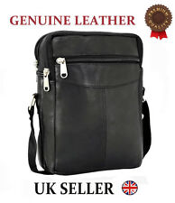 ODS:UK Men Ladies Real Leather Tote Cross Body Messenger Shoulder Handbag Bag