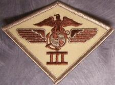Embroidered Military Patch USMC 3rd Marine Aircraft Wing Airwing NEW desert
