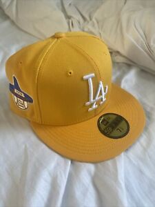 HAT CLUB EXCLUSIVE LOS ANGELES DODGERS 1959 PATCH TAXI GREY UV - 7 3/8