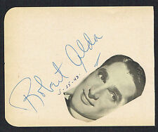 Robert Alda (d. 1986) signed autograph 4x5 Album Page The Girl Who Knew Too Much