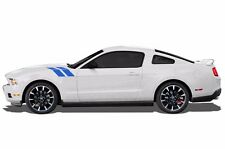 Custom Vinyl Decal Solid Hood Hash Marks Kit for 2010-2014 Ford Mustang GT BLUE