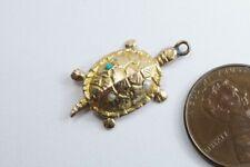 More details for cute little antique english 9k gold turtle / tortoise charm c1900