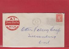 George VI post postes A1 Sani-Dairy MILK COLOUR advertising cover 1952, Canada