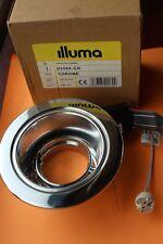Illuma D258X MR16 12v recessed tilt gimbal downlight polished chrome 95mm cutout