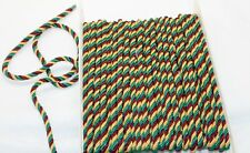 Twisted Drapery Cord Tri-Color (Gold, Dark Red, Green)  - 11 YDS