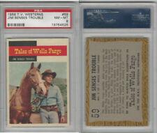 1958 Topps, TV Westerns, #59 Tales of Wells Fargo, Jim Senses, PSA 8 NMMT