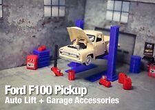 Ford F100 Diecast Model Car Garage Diorama Set 1:64 Father Day Gift