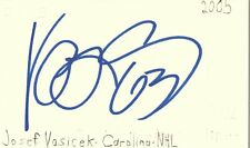 Josef Vasicek Carolina Nhl Hockey Autographed Signed Index Card