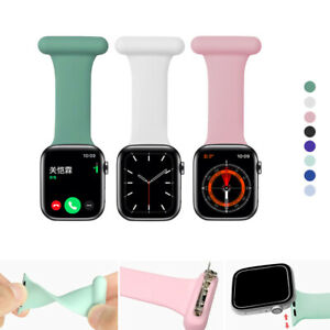 Silicone Nurses Doctors Fob Watch Strap Smart Watch Band For iWatch Series 6 5 4