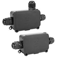 Waterproof Junction Box ABS Electronic Box Enclosure Case Screw 2/3 Way N#