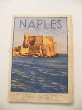 Guide Touristische Naples 1933 Italien Karte